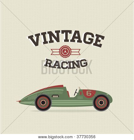 Vector vintage sport racing cars