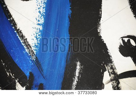 Hand-painted Oil on canvas abstract