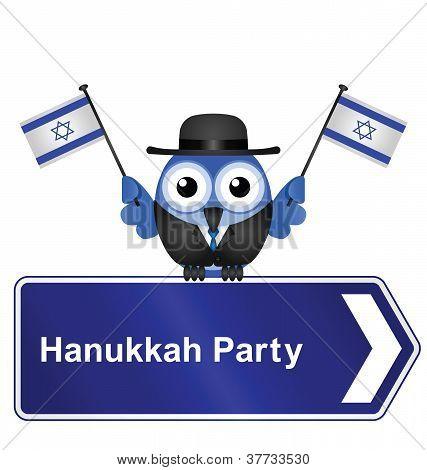 Hanukkah party sign