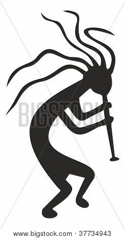 Kokopelli - Tribal Symbol, Fertility Deity Of Native American Cultures, Vector Illustration