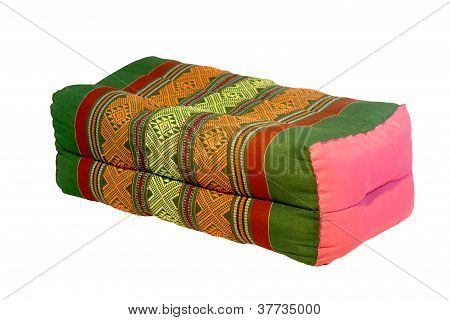 Thai Style Cotton Pillow Isolated