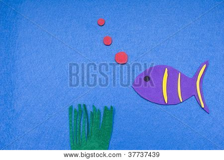Felt Fish Blowing Bubbles