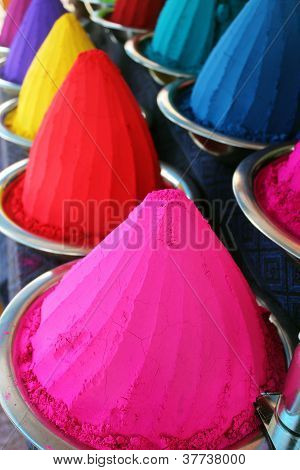 Colorful Dye Powders