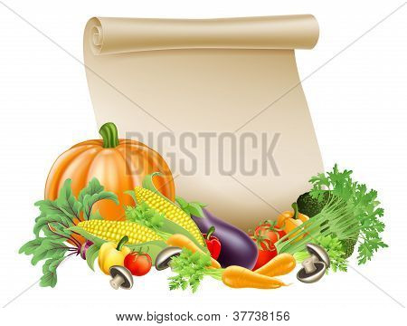 Thanksgiving Or Fresh Produce Scroll