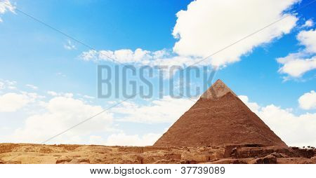 Pyramid Over Blue Sky