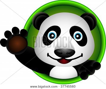 cute panda head cartoon