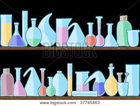 Seamless Pattern Laboratory Glass