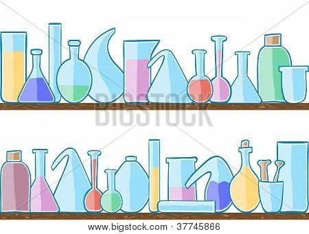 Seamless Pattern Laboratory Glass