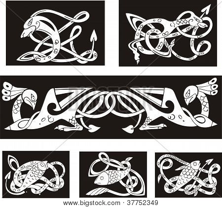 Animalistic Celtic Knot Patterns