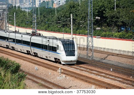 Train Running On Rail