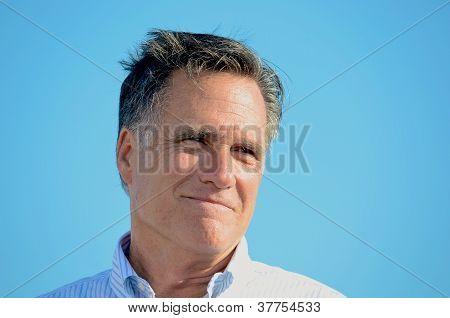 Smiling Mitt Romney