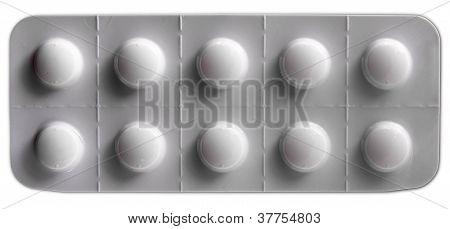White Pills Blister Pack