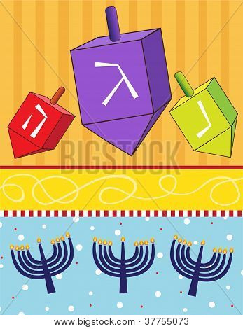 Dreidels and Menorahs