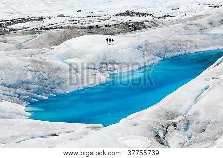 Glaciar de Mendenhall em Juneau, Alasca