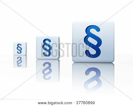 Cubes With Blue Paragraph Signs
