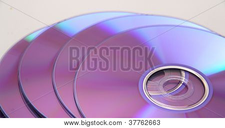 Toppled Stack of Blank Cd's or DVD's