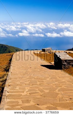 Road To Blue Sky In Madeira Island
