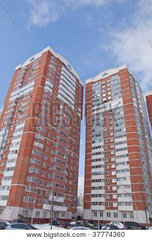 Modern high-rise apartment building