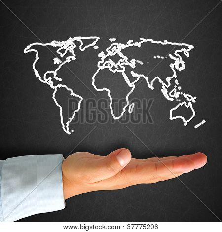 World Map In Blackboard