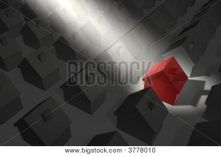 Red House In Spotlight