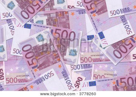 500 Euro Notes Texture