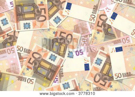 50 Euro Notes Texture