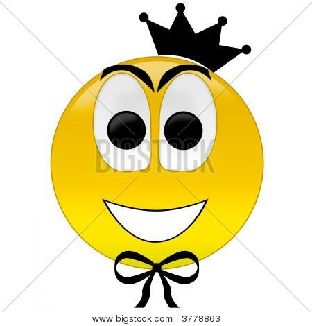 Happy Smiley With Crown Tie