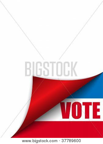 Voto Estados Unidos Página esquina