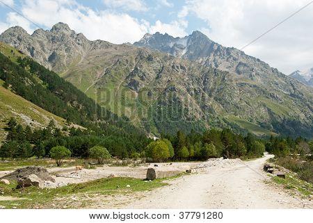 Adyr-su Valley In Kabardino-balkaria (russia)
