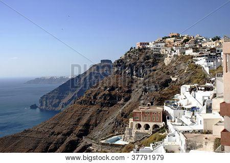 Santorini white houses in Oia