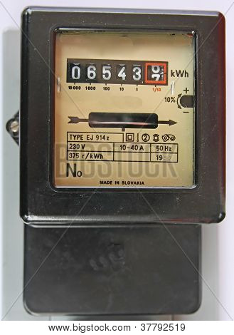 Electric Energy Meter Old Electromechanical Type