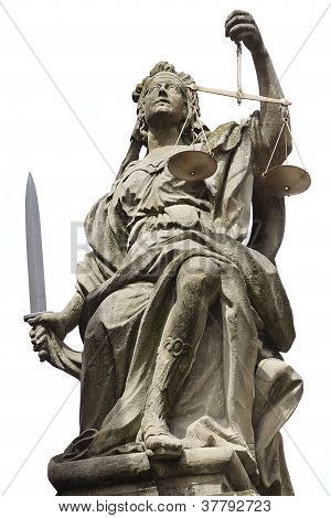Estatua de la justicia en Schloss Weikersheim