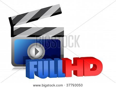 Full Hd Video Sign Illustration Design