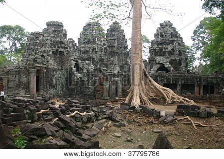 Stone temples at Angkor Wat