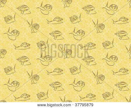 Seamless background with snails Achatina
