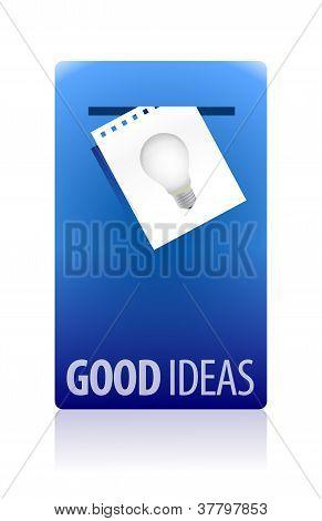 Good Ideas Booth Illustration Design