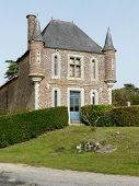 pic of poitiers  - One of the gatehouses at the Chateau la Raudiere near Poitiers in France - JPG