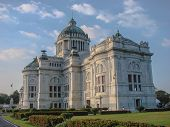 stock photo of neo-classic  - Anantasamakhom Throne Hall built in 1907 considered the most beautiful Italian Neo - JPG
