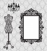 picture of dress mannequin  - Antique frame - JPG