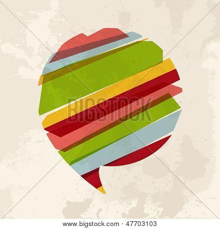 Vintage Multicolor Bubble Chat