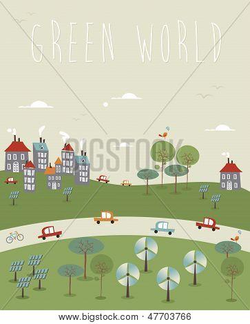 Vaya mundo verde diseño