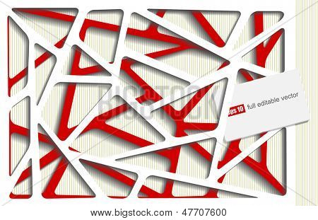 Photorealistic illustration of a paper decoupage - vector illustration