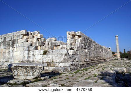 Sarcophagus, Wall And Column