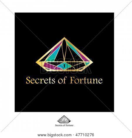Sign - secret of fortune. Vector idea.