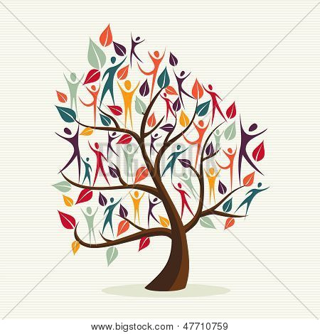 Diversity Human Leaves Tree Set