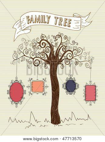 Concepto de árbol Marcos Vintage