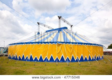 Circus Tent In Yellow And Blue