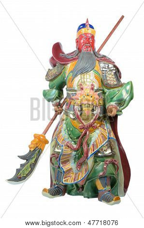 Statue Of Guan Yu (god Of Honor)