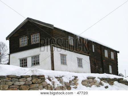 Old Vintage Building In Roros Norway