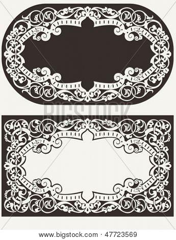 Two Vintage Ornate Frames Background